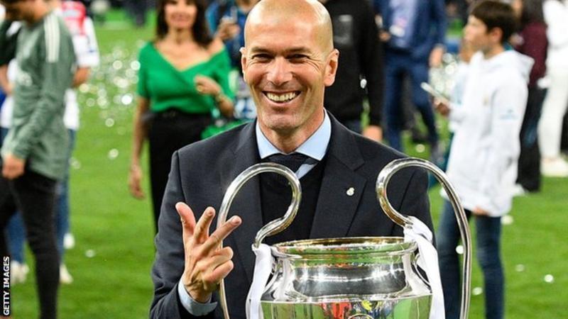 Зідан-єдиний в історії тренер, який виграв три поспіль чемпіонські титули в Кубку Європи / Лізі чемпіонів.